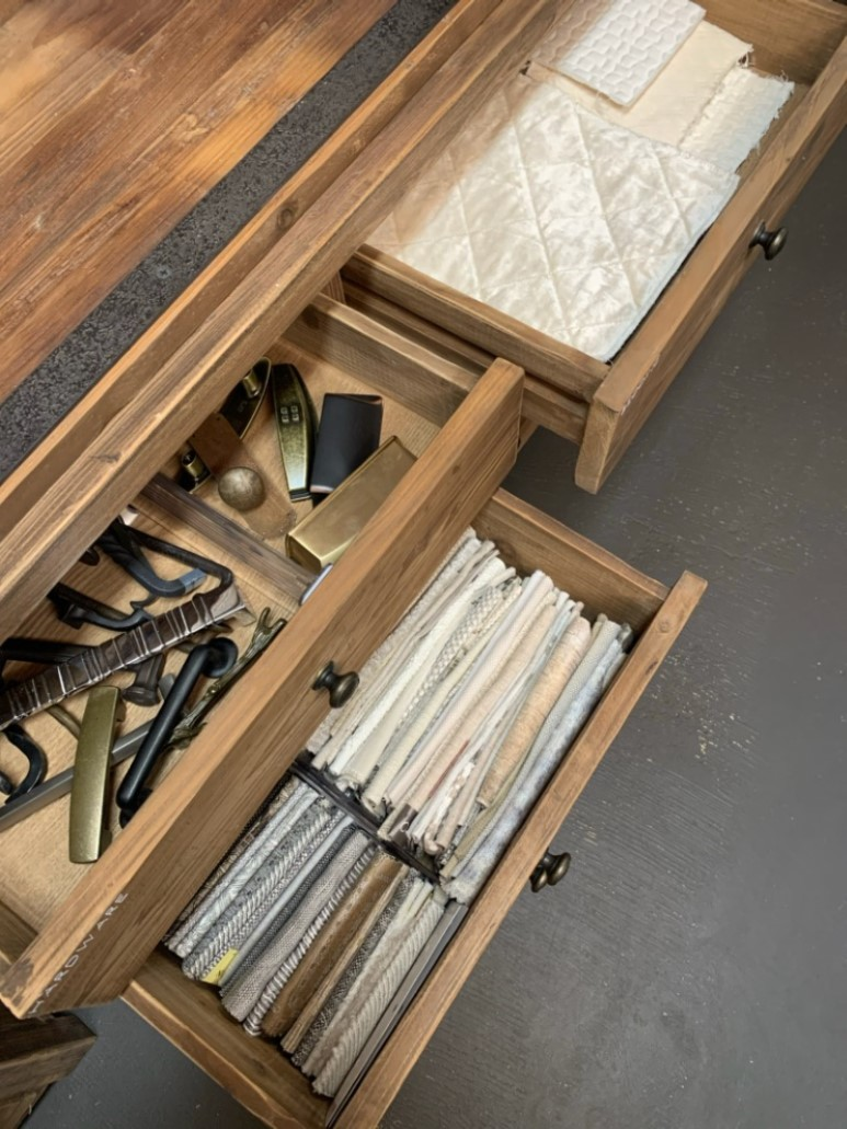 Design library drawer organization