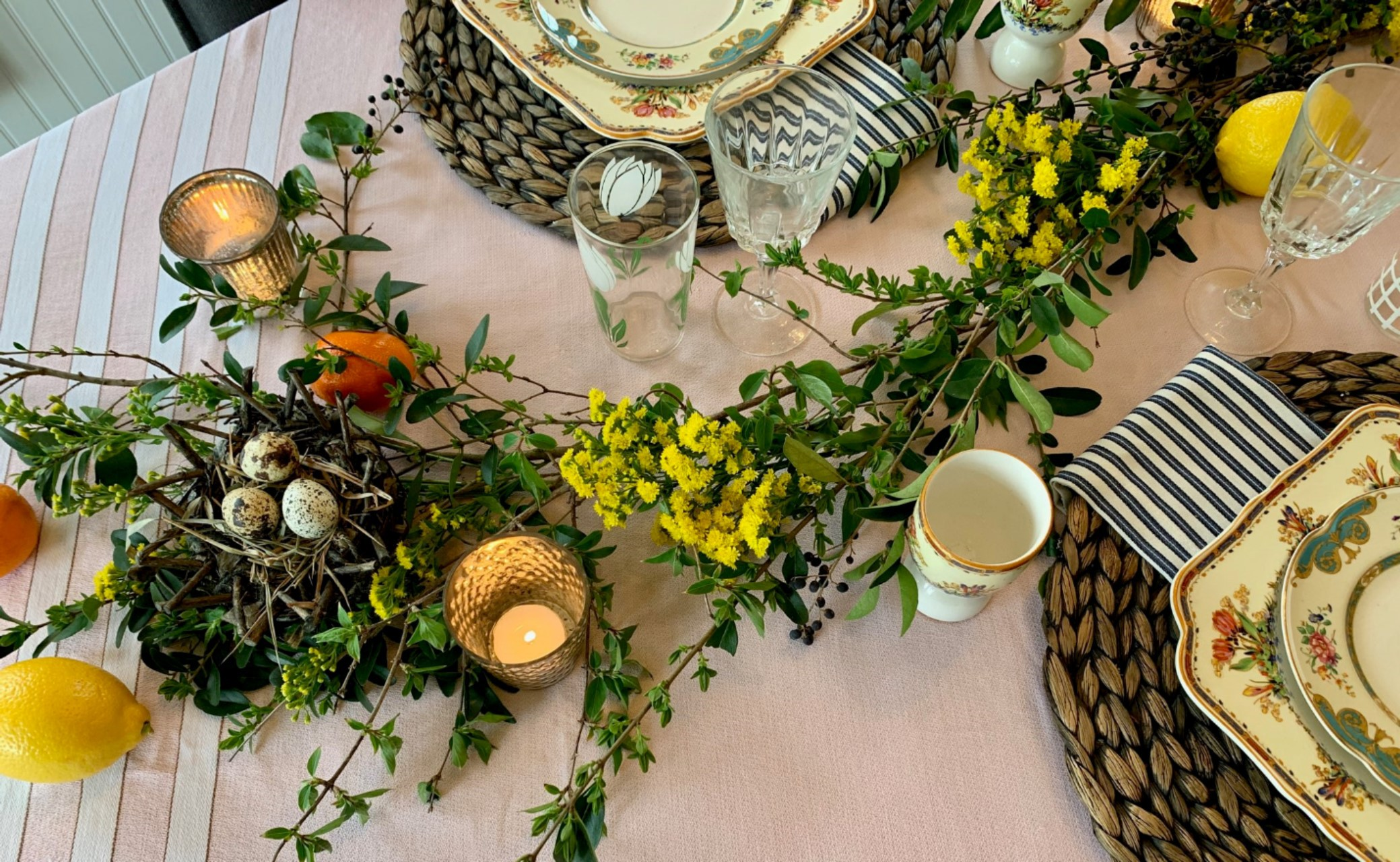 Easter brunch table-scape