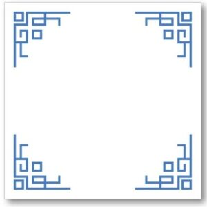 Chinese Corners Pad Block - Blue