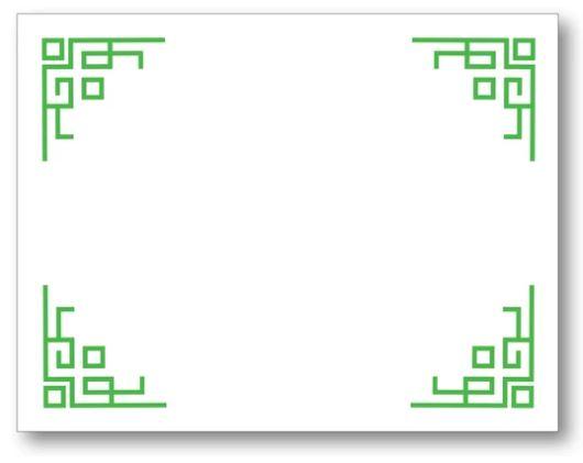 Chinese Corners Pad Block - Clover