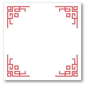 Chinese Corners Pad Block Red