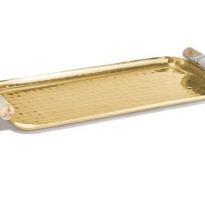 Hammered Gold Serving Tray