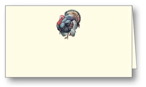 Thanksgiving Turkey Placecards